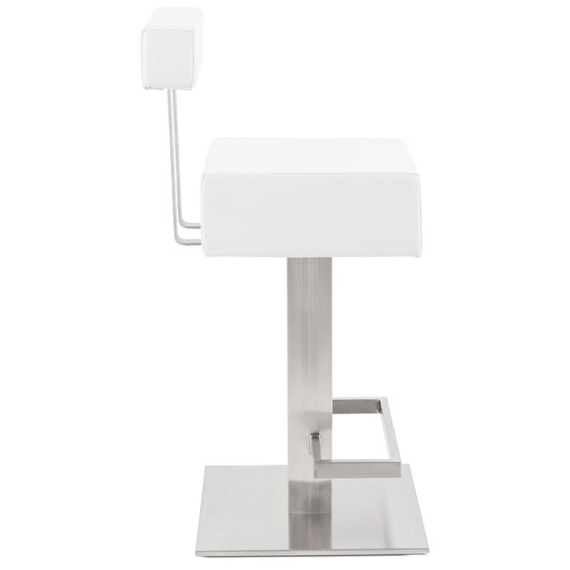 Tabouret design carré rotatif mi-hauteur ESCAULT MINI (blanc) - image 16047