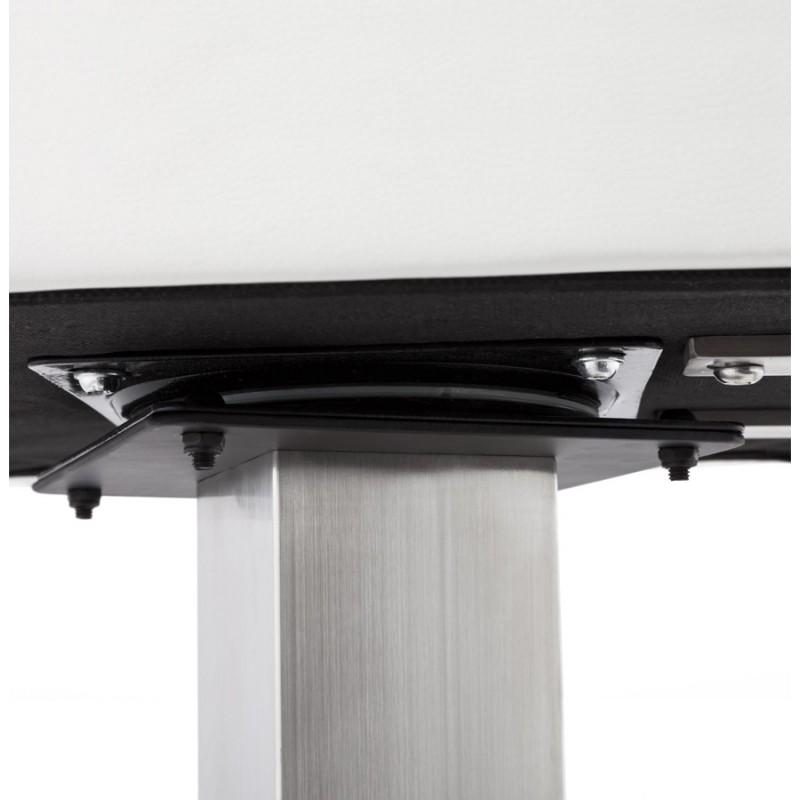 Tabouret design carré rotatif mi-hauteur ESCAULT MINI (blanc) - image 16051