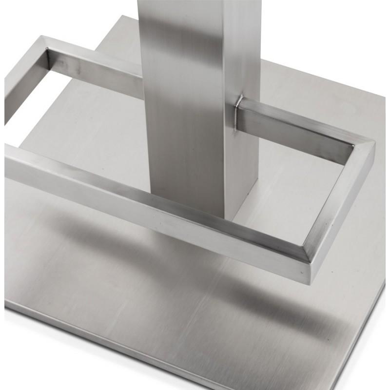 Tabouret design carré rotatif mi-hauteur ESCAULT MINI (blanc) - image 16055