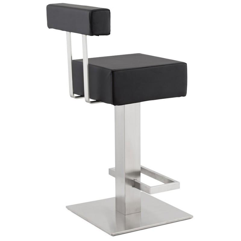 Tabouret design carré rotatif mi-hauteur ESCAULT MINI (noir) - image 16060