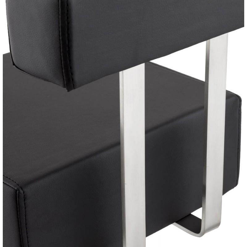 Tabouret design carré rotatif mi-hauteur ESCAULT MINI (noir) - image 16063