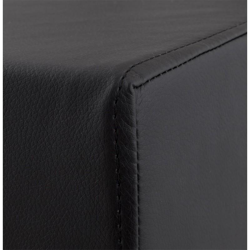 Tabouret design carré rotatif mi-hauteur ESCAULT MINI (noir) - image 16066