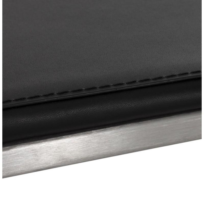 Tabouret design épuré LOIRET mi-hauteur (noir) - image 16100