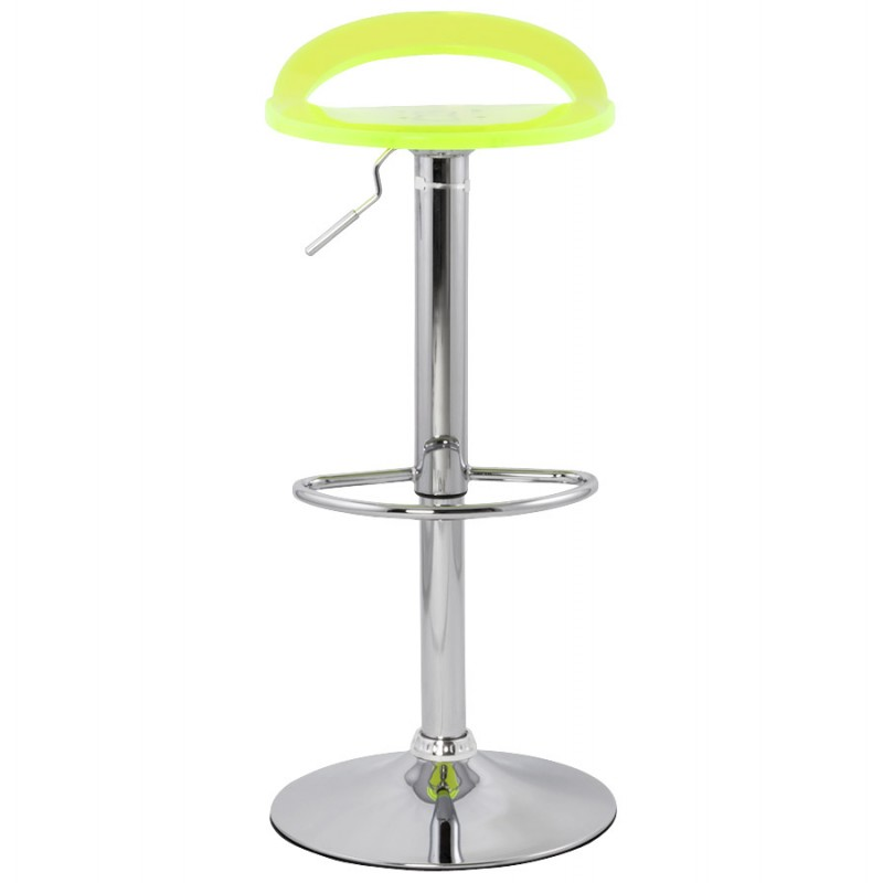 MOSELLE stool round design in ABS (high-strength polymer) and chrome metal (fluo) - image 16120