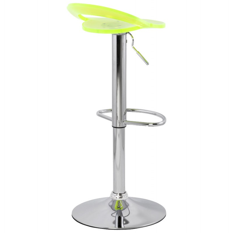 MOSELLE stool round design in ABS (high-strength polymer) and chrome metal (fluo) - image 16122