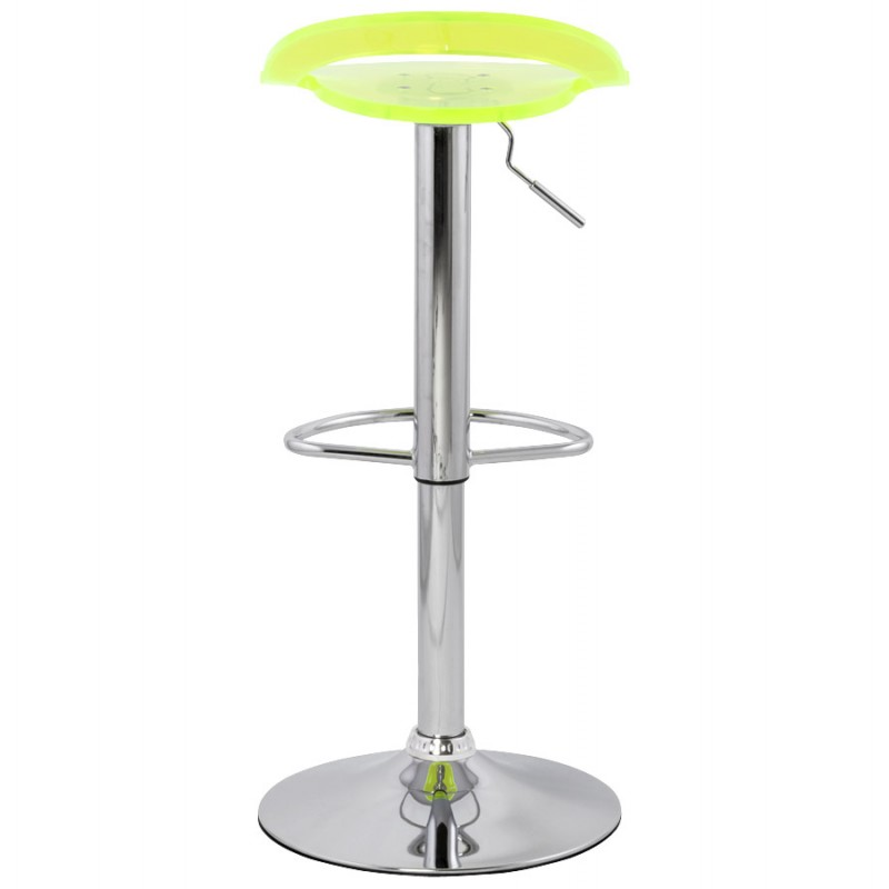 MOSELLE stool round design in ABS (high-strength polymer) and chrome metal (fluo) - image 16123