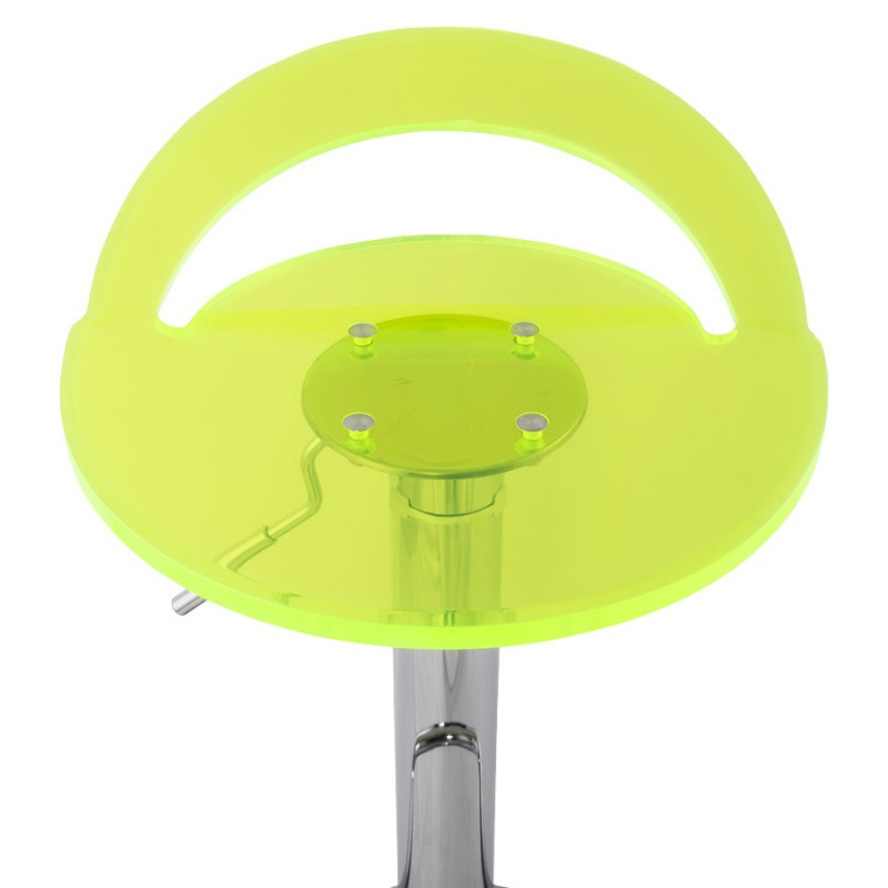 MOSELLE stool round design in ABS (high-strength polymer) and chrome metal (fluo) - image 16125