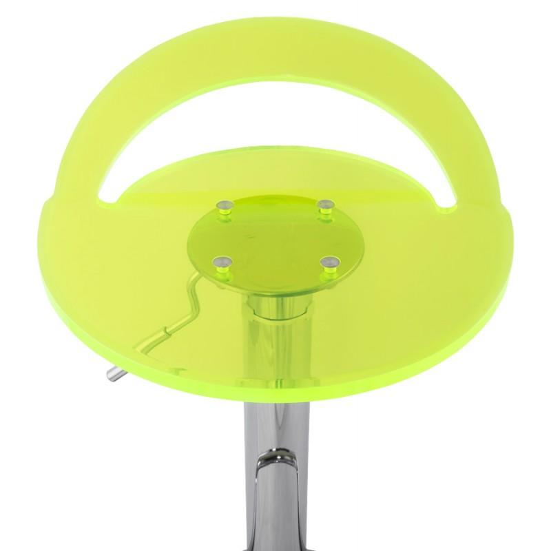 Hocker Runde Design MOSELLE in ABS (hochfesten Polymer) und Chrom Metall (Fluo) - image 16125