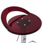 Tabouret MOSELLE rond design en ABS (polymère à haute résistance) et métal chromé (rouge)