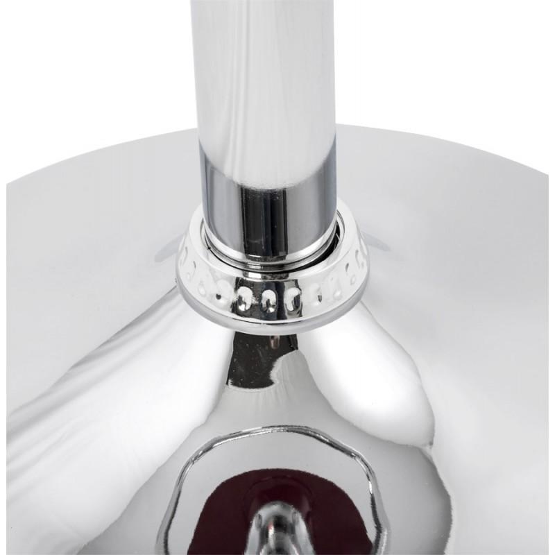 Tabouret MOSELLE rond design en ABS (polymère à haute résistance) et métal chromé (rouge) - image 16140