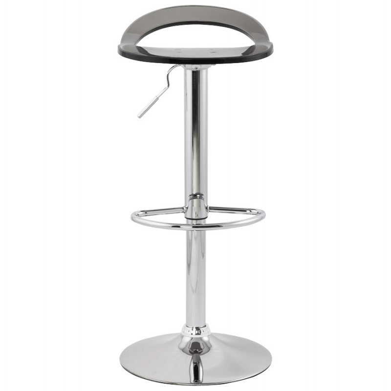MOSELLE stool round design in ABS (high-strength polymer) and chrome metal (smoked) - image 16142
