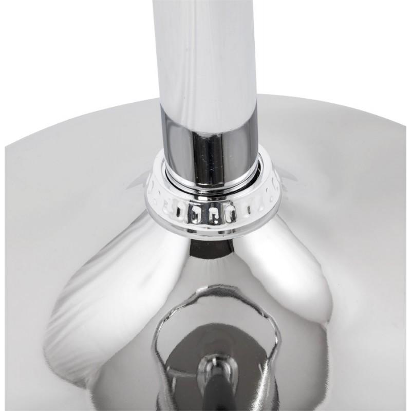 Tabouret MOSELLE rond design en ABS (polymère à haute résistance) et métal chromé (fumé) - image 16150