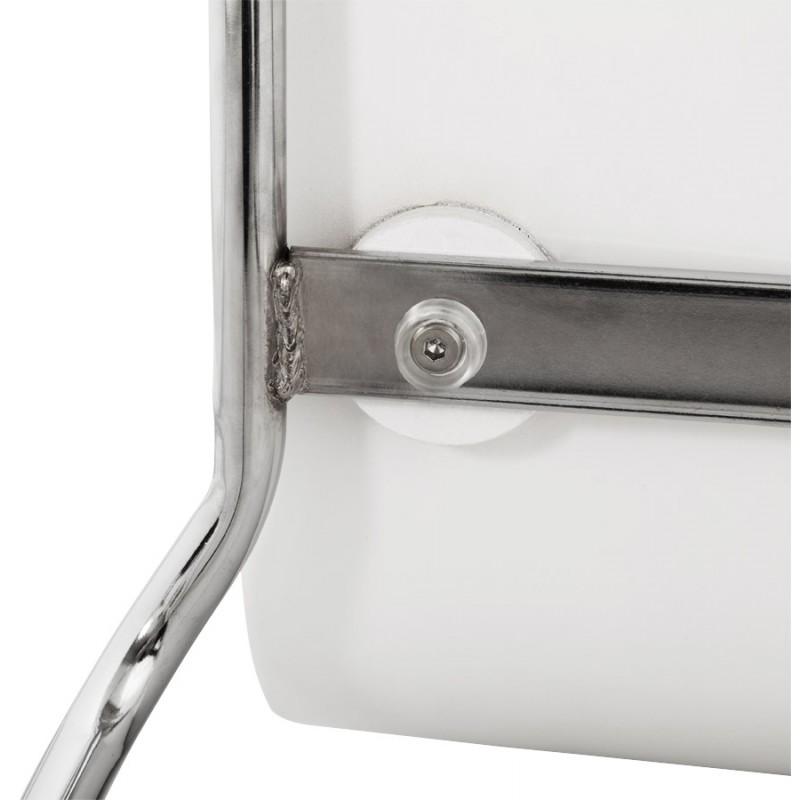 Tabouret de bar SAONE en bois et métal chromé (blanc) - image 16177