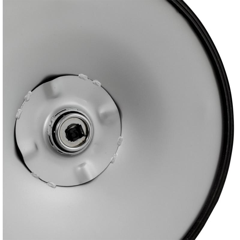 Tabouret LYS rond design en ABS (polymère à haute résistance) et métal chromé (blanc) - image 16245