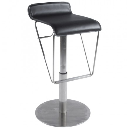 Bar stool rotating and adjustable ARIEGE (black)