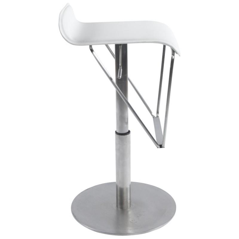 Tabouret de bar ARIEGE rotatif et réglable (blanc) - image 16257