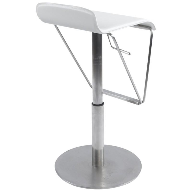 Tabouret de bar ARIEGE rotatif et réglable (blanc) - image 16258