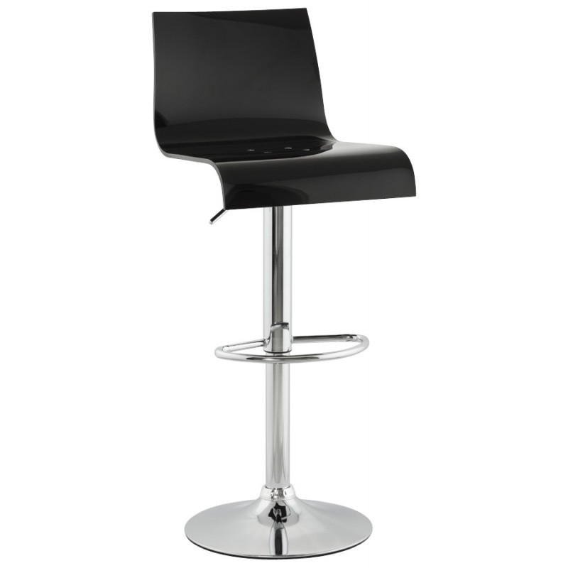 SARTHE Stool in ABS (high-strength polymer) and chrome metal (black) - image 16265