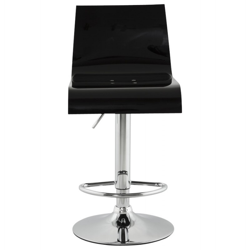 SARTHE Stool in ABS (high-strength polymer) and chrome metal (black) - image 16267