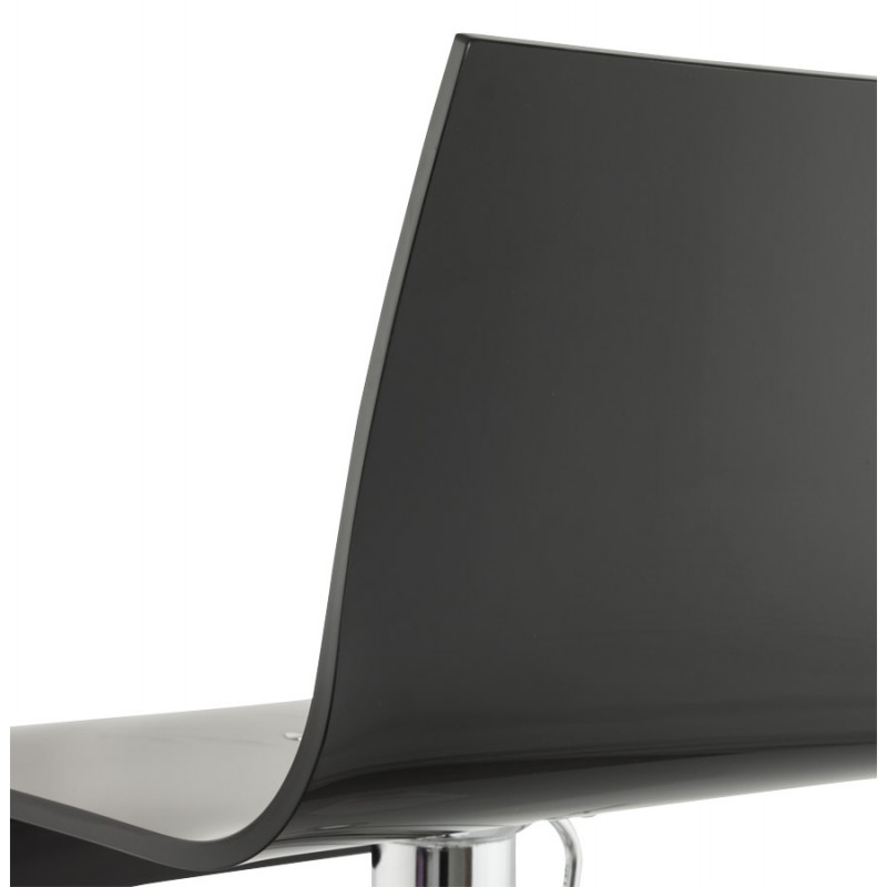 SARTHE Stool in ABS (high-strength polymer) and chrome metal (black) - image 16272