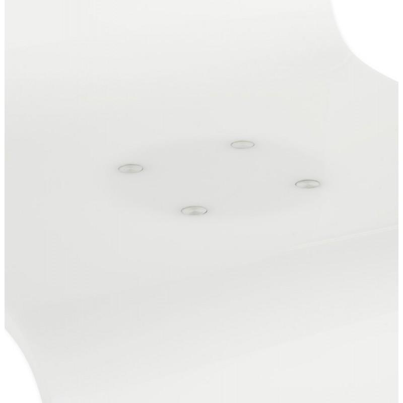 Tabouret SARTHE en ABS (polymère à haute résistance) et métal chromé (blanc) - image 16322
