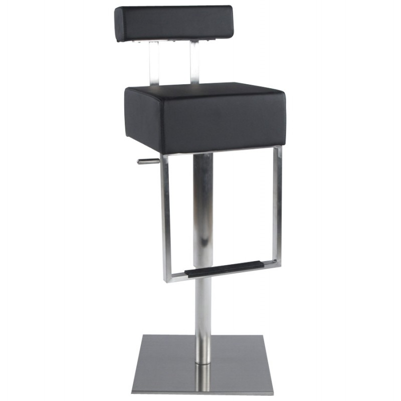 tabouret de bar moderne rotatif et r glable gardon noir. Black Bedroom Furniture Sets. Home Design Ideas