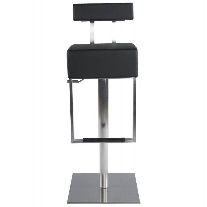 Tabouret de bar moderne rotatif et réglable GARDON (noir) - image 16356