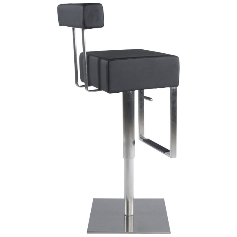 Tabouret de bar moderne rotatif et réglable GARDON (noir) - image 16358