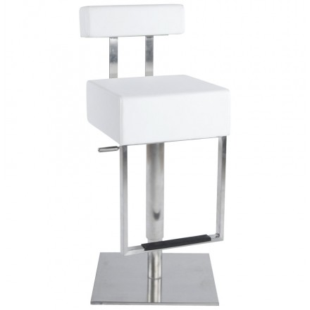 Bar stool modern rotating and adjustable GARDON (white)