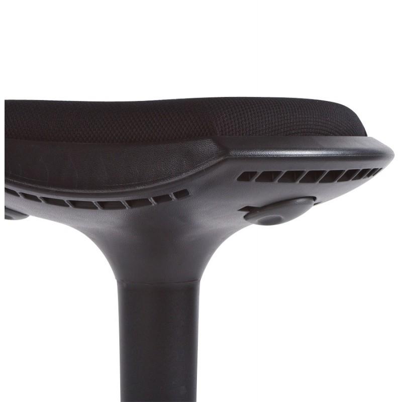 Tabouret VIENNE en tissus résistant et Polypropylène moulé (noir) - image 16381