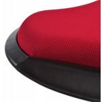 Tabouret VIENNE en tissus résistant et Polypropylène moulé (rouge)