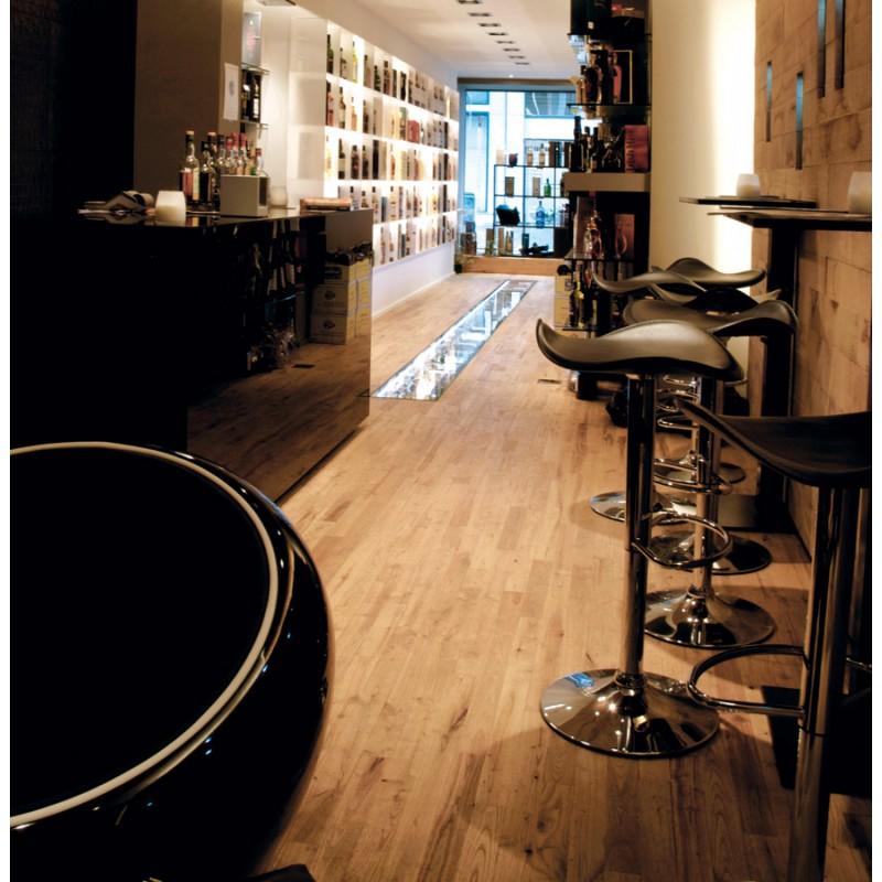 Tabouret de bar design rond ADOUR rotatif et réglable (noir) - image 16416