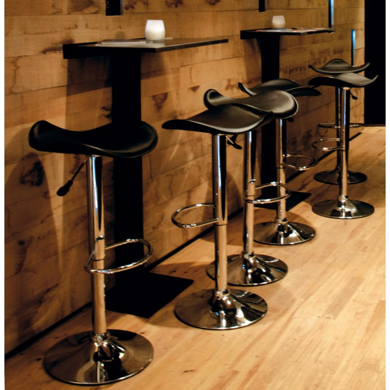 Tabouret de bar design rond ADOUR rotatif et réglable (noir) - image 16417