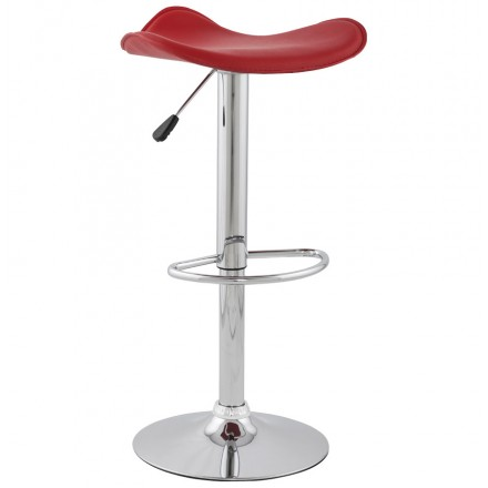 Bar stool round design rotary and adjustable ADOUR (red)