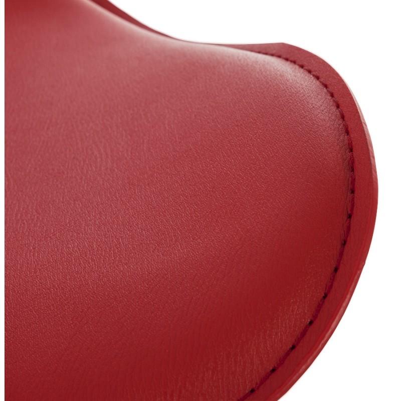 Tabouret de bar design rond ADOUR rotatif et réglable (rouge) - image 16423
