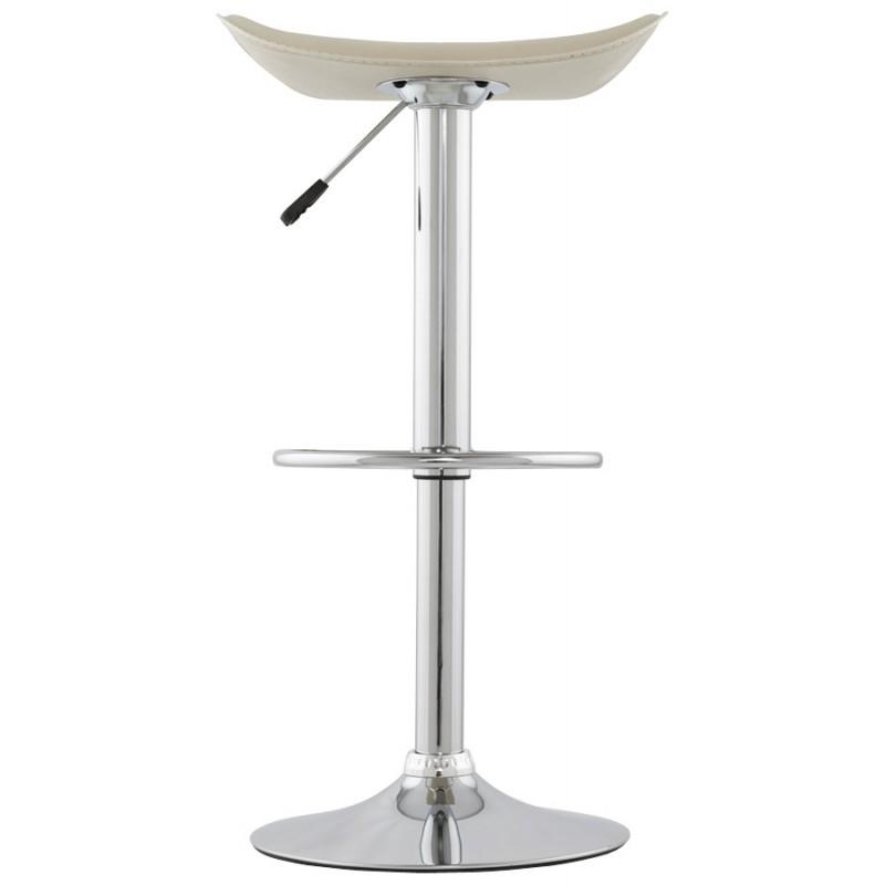 Tabouret de bar design rond rotatif et réglable ADOUR (crème) - image 16433