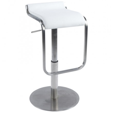 Design square stool rotating and adjustable LOUE (white)