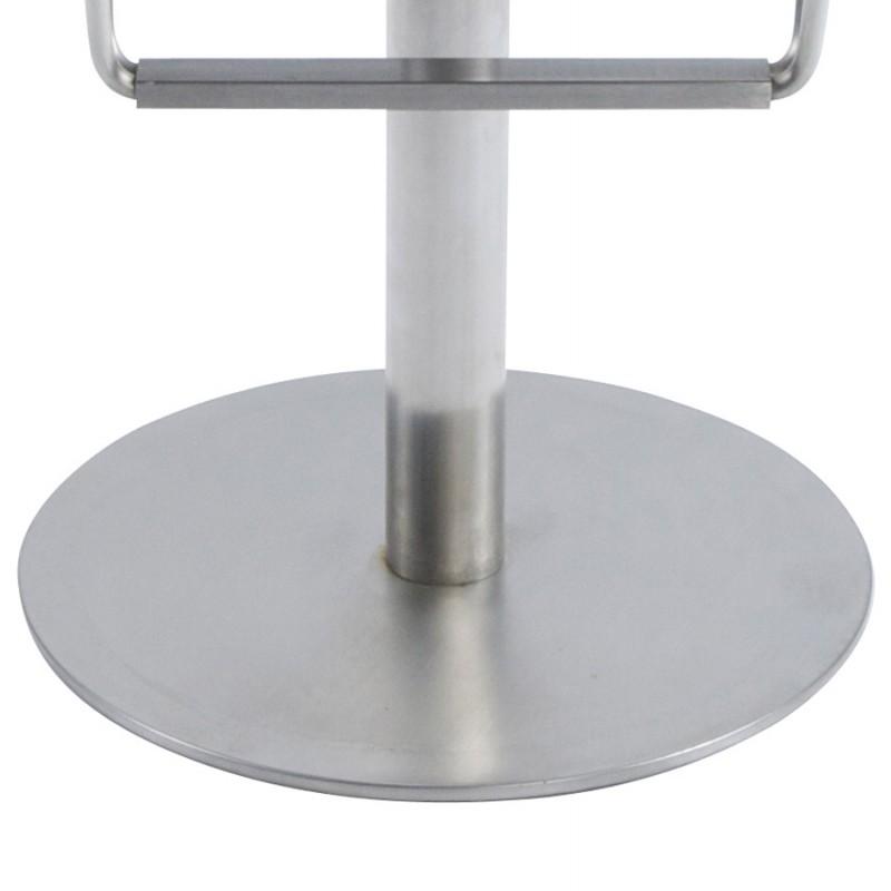 Tabouret design carré MAINE en acier brossé (acier) - image 16461