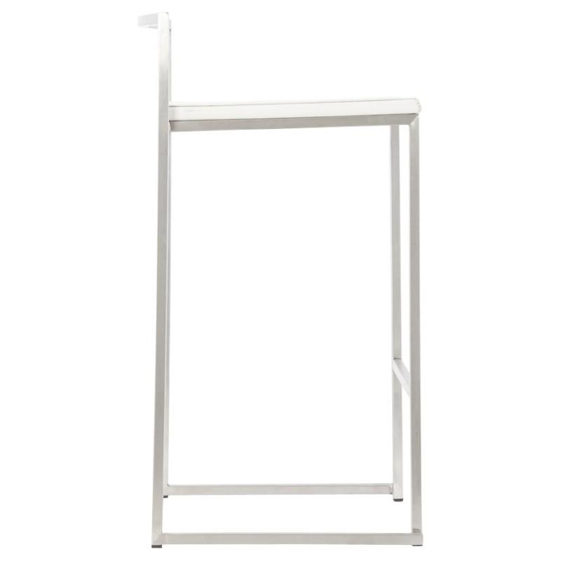 Tabouret design épuré LOIRET mi-hauteur (blanc) - image 16541