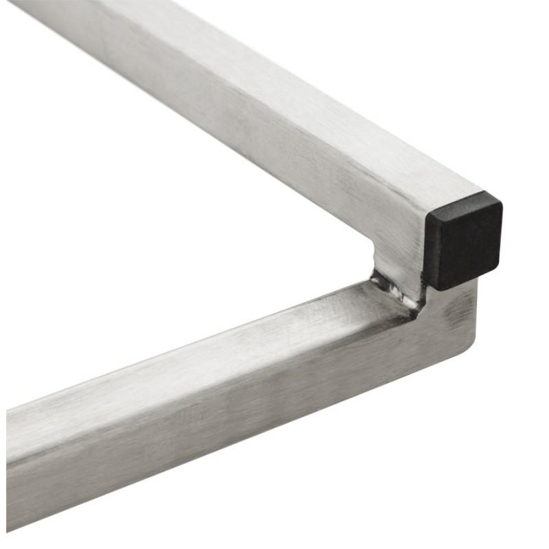 Tabouret design épuré LOIRET mi-hauteur (blanc) - image 16550