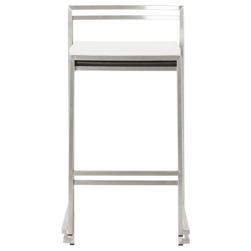 Tabouret design épuré LOIRET mi-hauteur (blanc) - image 16552