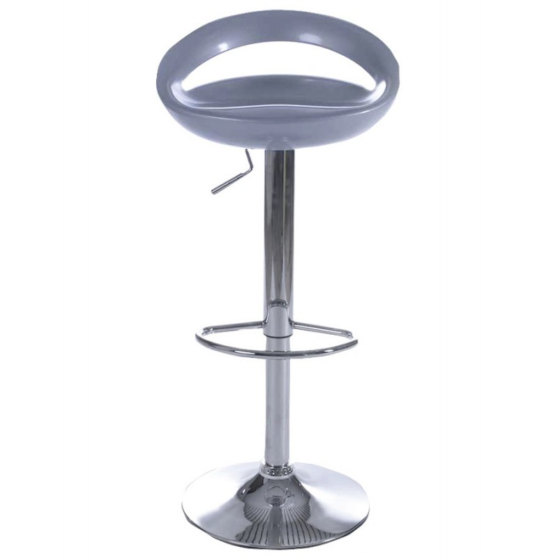 ALLIER Stool round in ABS (high-strength polymer) and chrome metal (Silver) - image 16601