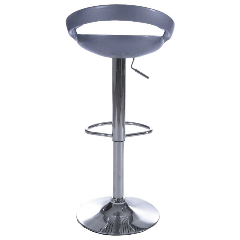 ALLIER Stool round in ABS (high-strength polymer) and chrome metal (Silver) - image 16603