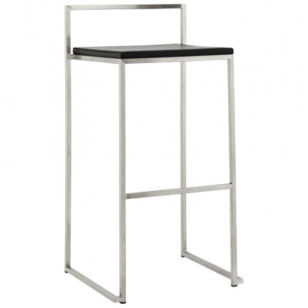 Bar stool design square DORDOE (black)