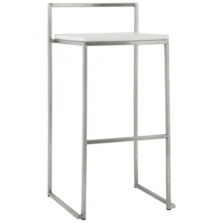 Bar stool design square DORDOE (white)