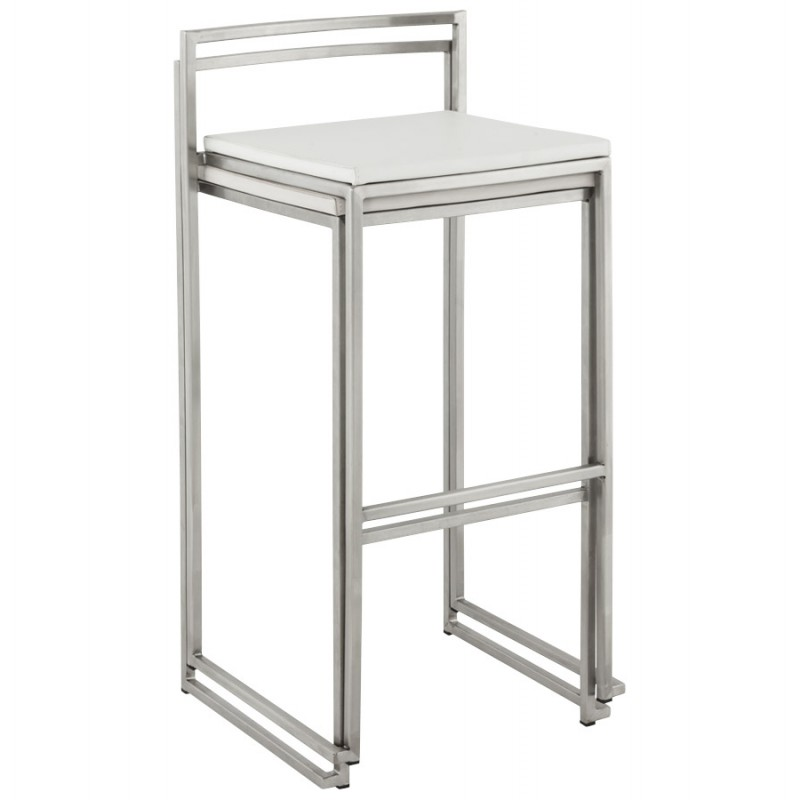 Bar stool design square DORDOE (white) - image 16643