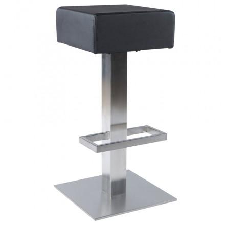 Tabouret de bar design OISE rotatif (noir)