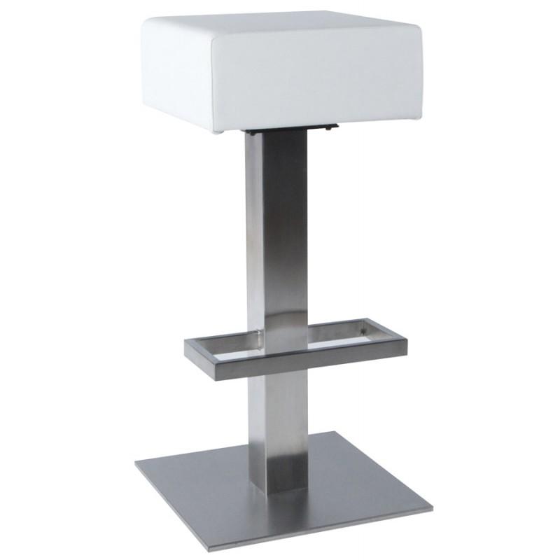 Diseño taburete de la barra giratoria OISE (blanco) - image 16654