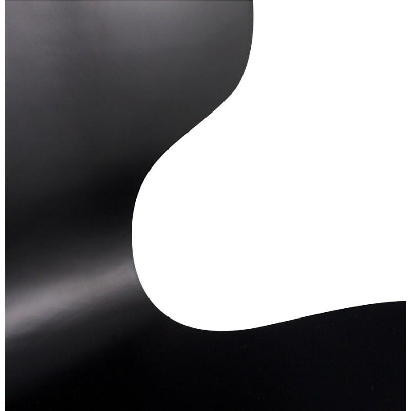 Chaise design AGOUT peinte en bois ou dérivé et métal chromé (noir) - image 16667