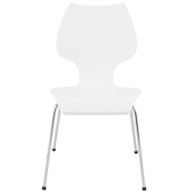 Design Stuhl AGOUT Holz oder abgeleiteten gemalt und